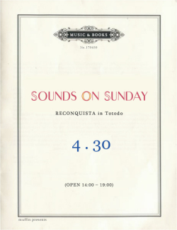 SOUNDS ON SUNDAY vol.6